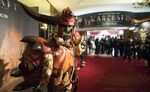 Warcraft movie premiere-France-orc in lobby