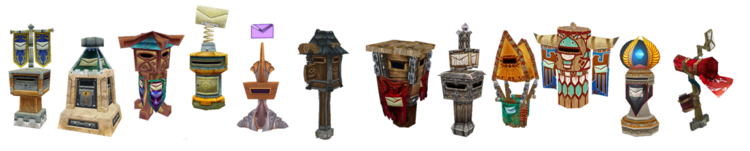 Most playable race mailboxes