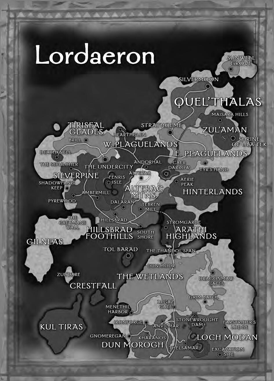 Zul'Dare on the Wrold of Warcraft Manual Map.