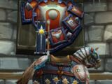 Crusader's Black Warhorse