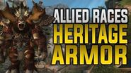 Allied Races In Game Preview Of The Heritage Armor & Mounts