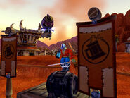 Pirate Toranaga keg dancing at Brewfest09 holding the 08 blue vintage stein