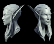 Slyvanas for Legion cinematic facial modeling
