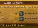 Exploration achievements