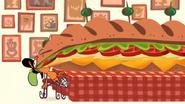 S1e11b Wander eating huge sandwich 1
