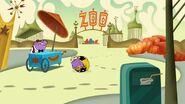 S1e8a Rongruffle rolls behind a hot dog cart