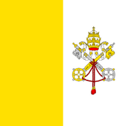 Holy See or Vatican City Flag