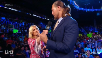 Renee Young and Big Cass