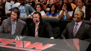Raw Announcers Cole JBL Saxton
