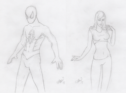 SpidermanMaryjanePencilSketches.png