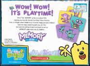Memory Game Wow! Wow! Wubbzy! Edition - Box, Back