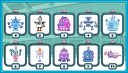 Widget's Build a Robot Robot Select Screen (Completed)