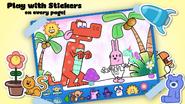 Wubbzy's Animal Coloring Book (iPhone) 4