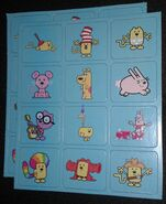 Memory Game Wow! Wow! Wubbzy! Edition - Blue Card Sets