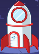 Widget's Rocket (Named the 'Rocket Racer 3000' in the 'Wubbzy's Space Adventure' App)