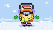Wubbzy Dressed Up For the Cold