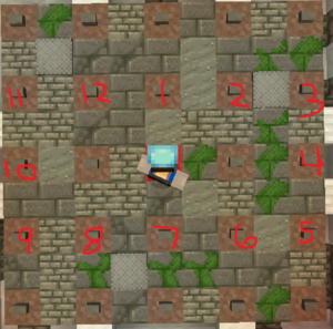 solution of the brown/red Mushroom Puzzle.
