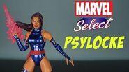 "Psylocke Marvel Select Action Figure Review Diamond X-Men 7"" Legends Action Features Toy Talk Toys"