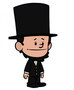 Abe standing