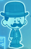 ~7 year old Orville has a mustache