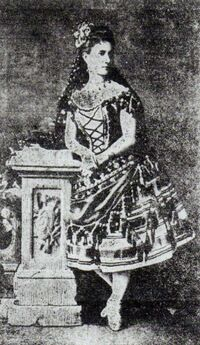 Vazem photograph from 1881 when she was 33 years old.