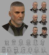 XCOM2 Central headsketches