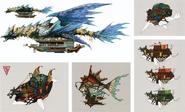 Titan Ships Concept Art