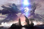 Xenoblade Official Art God Fight