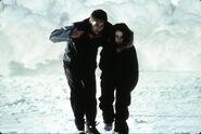 Mulder Scully Fuite Antarctique Combattre le Futur