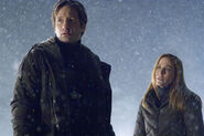 Mulder Scully Je veux y croire Neige 2008
