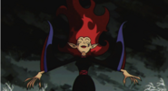 Wuya returning to her human form