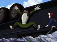 Rogue defeats Toad
