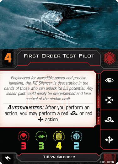 First Order Test Pilot