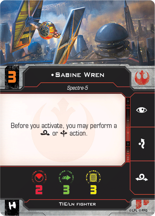Sabine Wren (TIE Fighter)