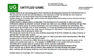 Untitled Game notice