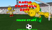 Mario Football 2011 - Title Screen