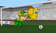 Mario Football 2011 - Koopa Troopa is going to dodge the ball