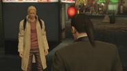 Young Ryuji approaches Majima