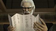 Yakuza 2 Goda reading the letter from Terada