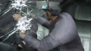 Yakuza 2 Sayama getting wounded after being shot at by a sniper