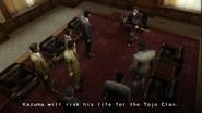 Yakuza 2 Yayoi threatening anyone who is against Kiryu's decision