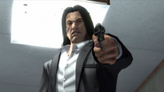 Young Saejima with a revolver