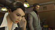 Yakuza 2 Bessho talking to Sayama on the phone