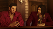 Nishiki demands to know why Kiryu chose to stick the Dojima Family once again.png