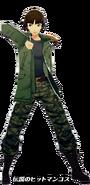 P5D Makoto Niijima Legendary Hitman costume