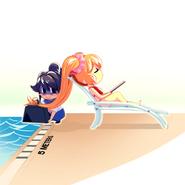 Noyade dans la piscine illustration