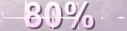 80% - Compteur