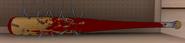 Batte cloutée sang