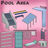 """Modèle """"accessoires"""" piscine"""