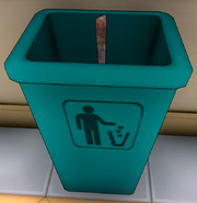 Morceau de ferraille poubelle
